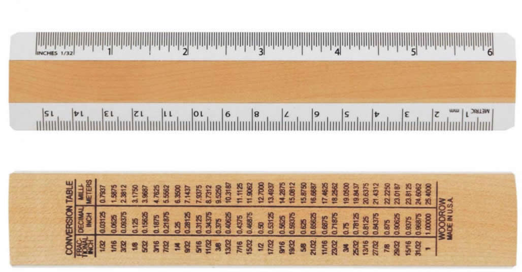 0630a 6inch Inches Metric Ruler