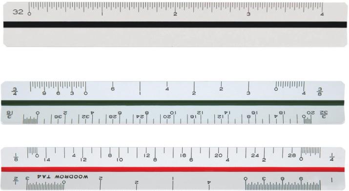 Ta4 Triangular Architectural Ruler